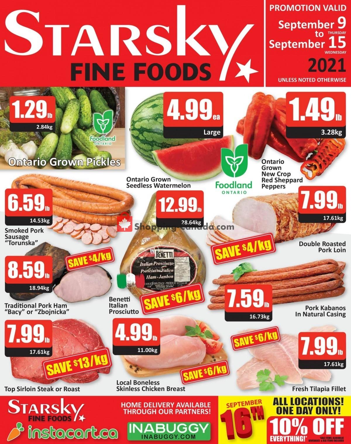 Flyer Starsky Foods Canada - from Thursday September 9, 2021 to Wednesday September 15, 2021