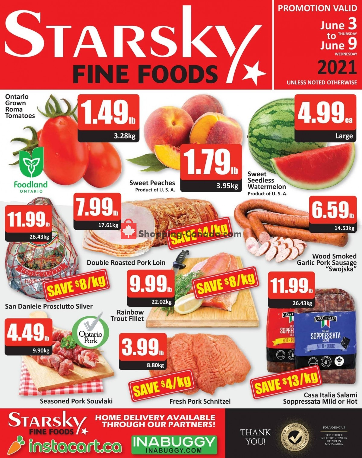 Flyer Starsky Foods Canada - from Thursday June 3, 2021 to Wednesday June 9, 2021