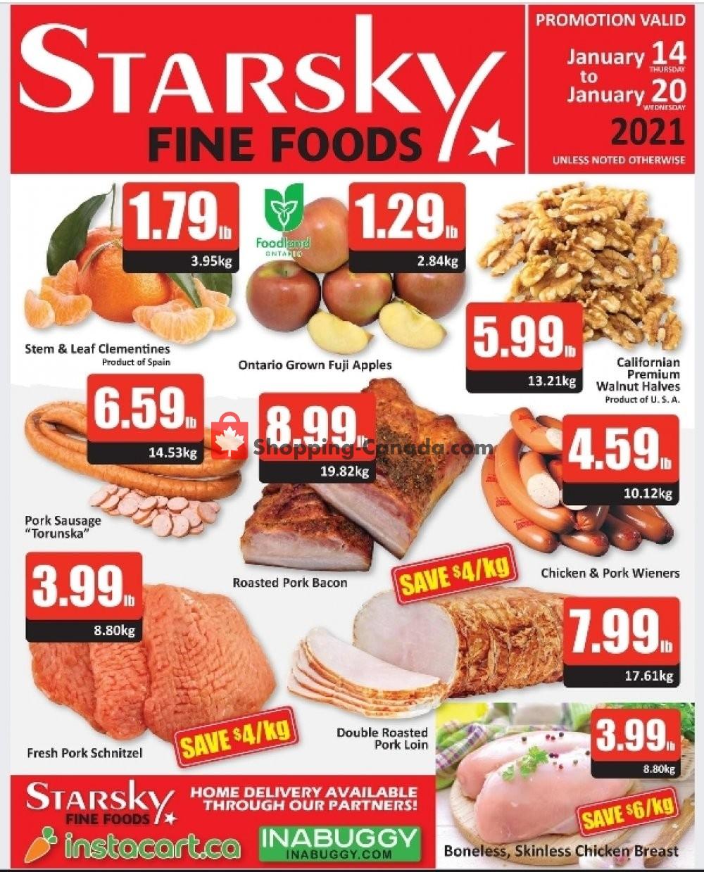 Flyer Starsky Foods Canada - from Thursday January 14, 2021 to Wednesday January 20, 2021