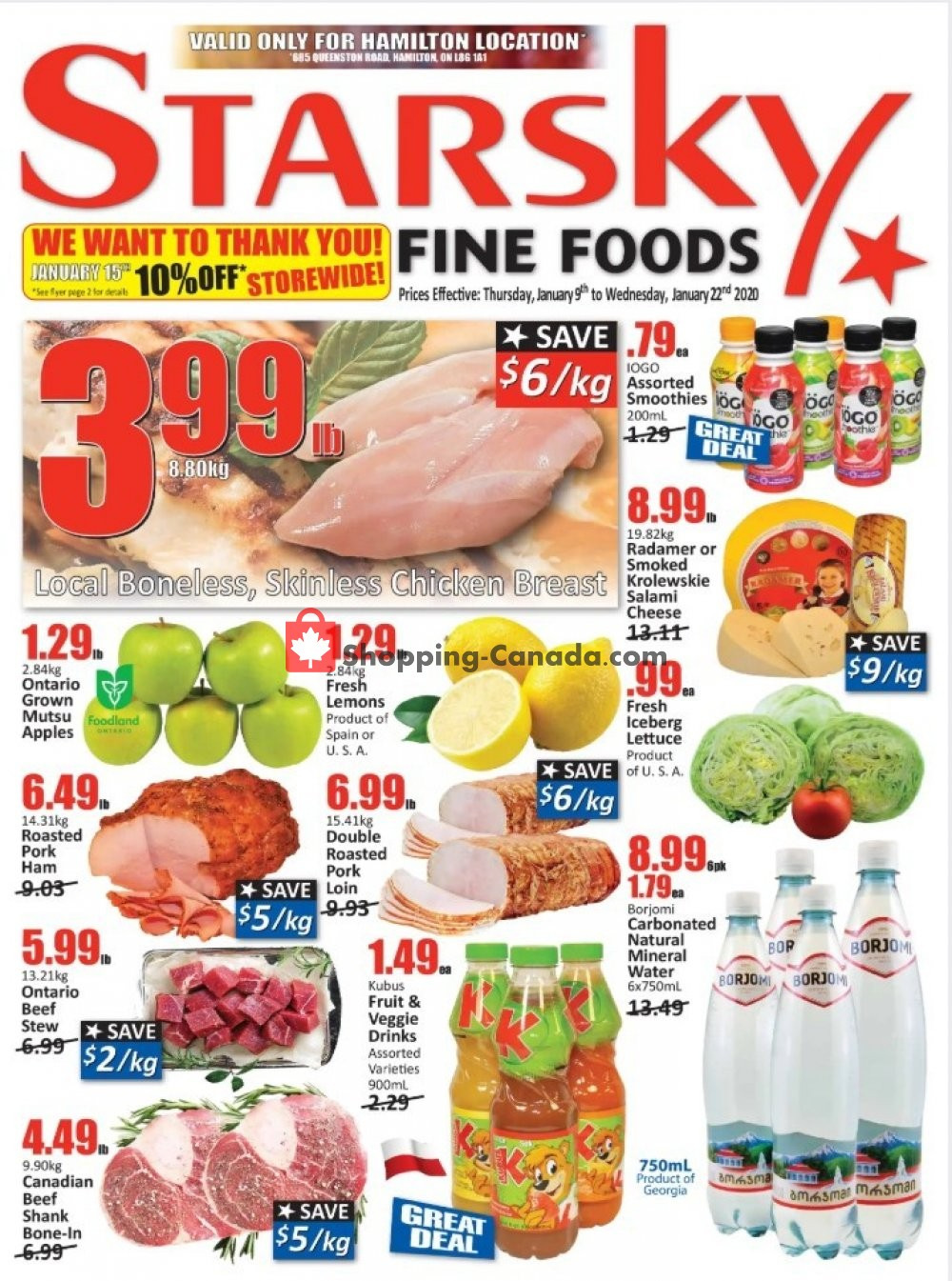 Flyer Starsky Foods Canada - from Thursday January 9, 2020 to Wednesday January 22, 2020