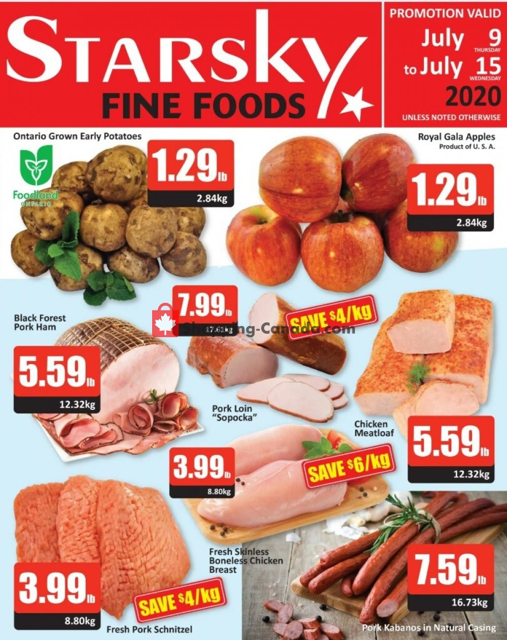 Flyer Starsky Foods Canada - from Thursday July 9, 2020 to Wednesday July 15, 2020
