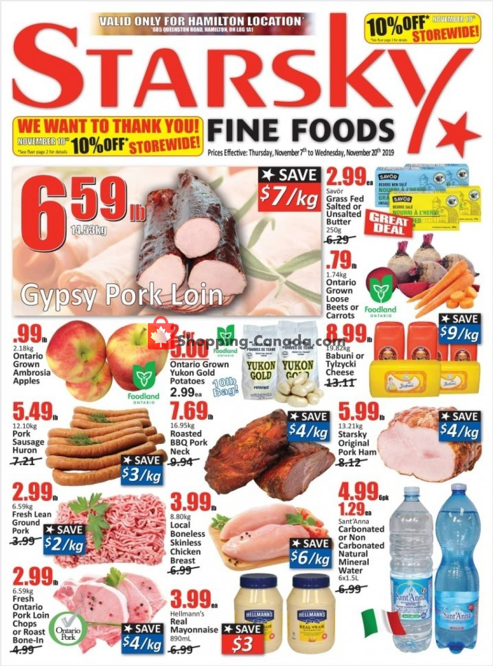 Flyer Starsky Foods Canada - from Thursday November 7, 2019 to Wednesday November 20, 2019