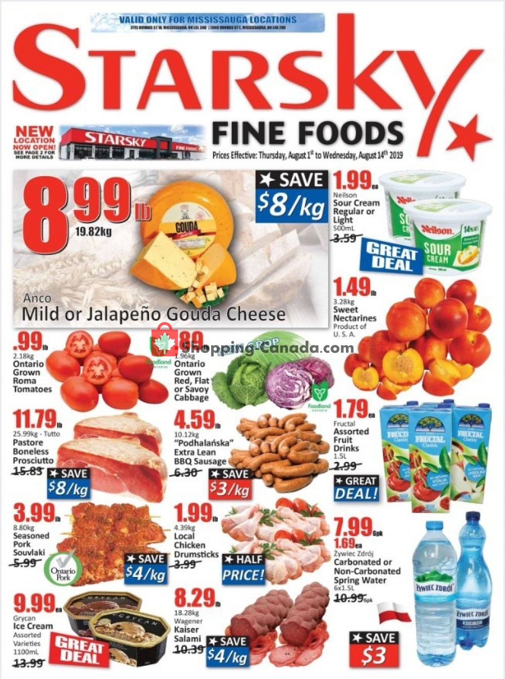 Flyer Starsky Foods Canada - from Thursday August 1, 2019 to Wednesday August 14, 2019