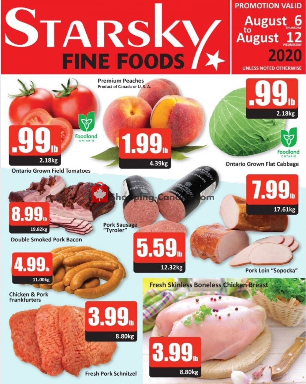Flyer Starsky Foods Canada - from Thursday August 6, 2020 to Wednesday August 12, 2020