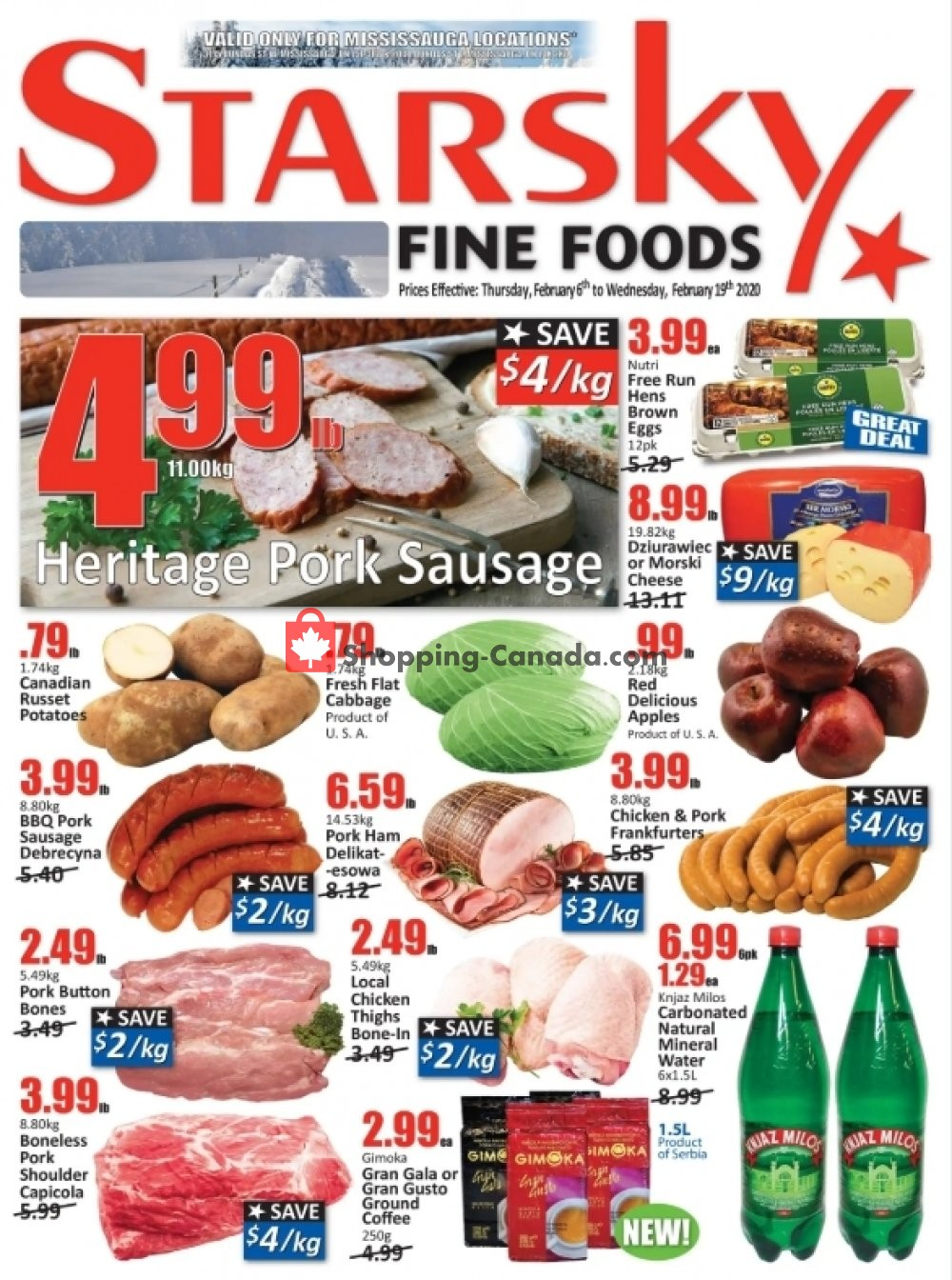 Flyer Starsky Foods Canada - from Thursday February 6, 2020 to Wednesday February 19, 2020