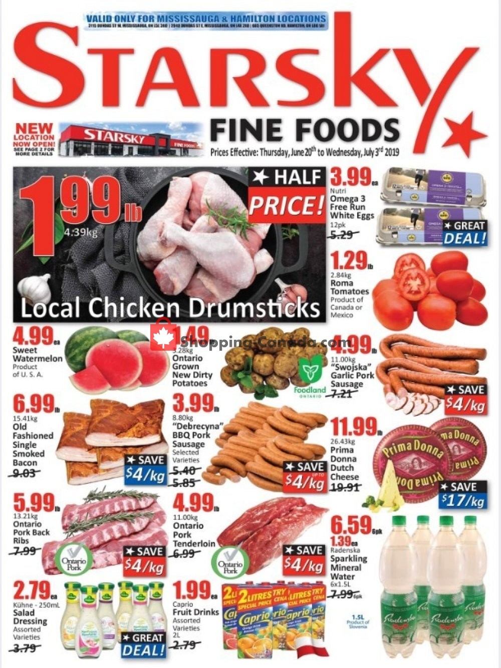 Flyer Starsky Foods Canada - from Thursday June 20, 2019 to Wednesday July 3, 2019
