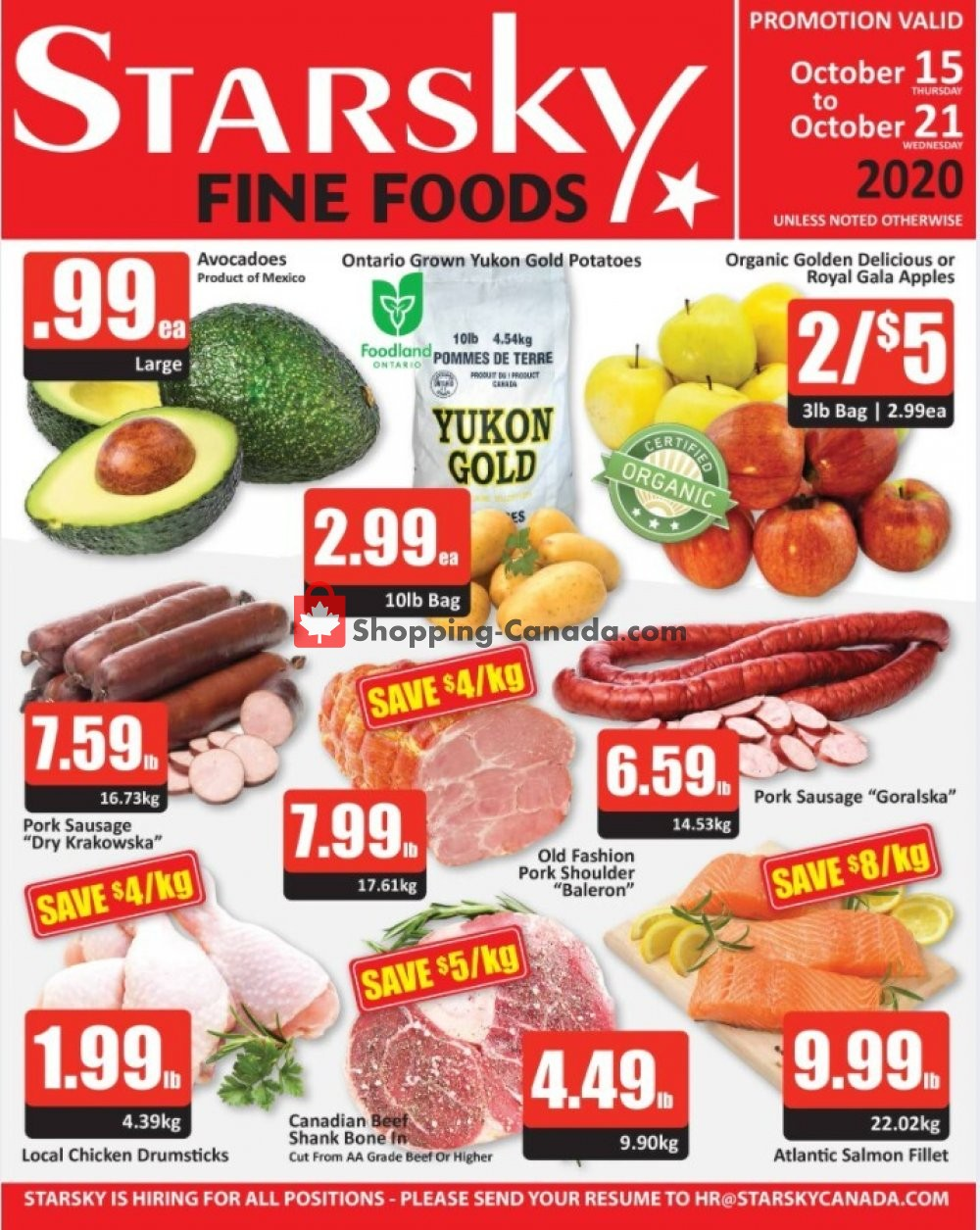 Flyer Starsky Foods Canada - from Thursday October 15, 2020 to Wednesday October 21, 2020