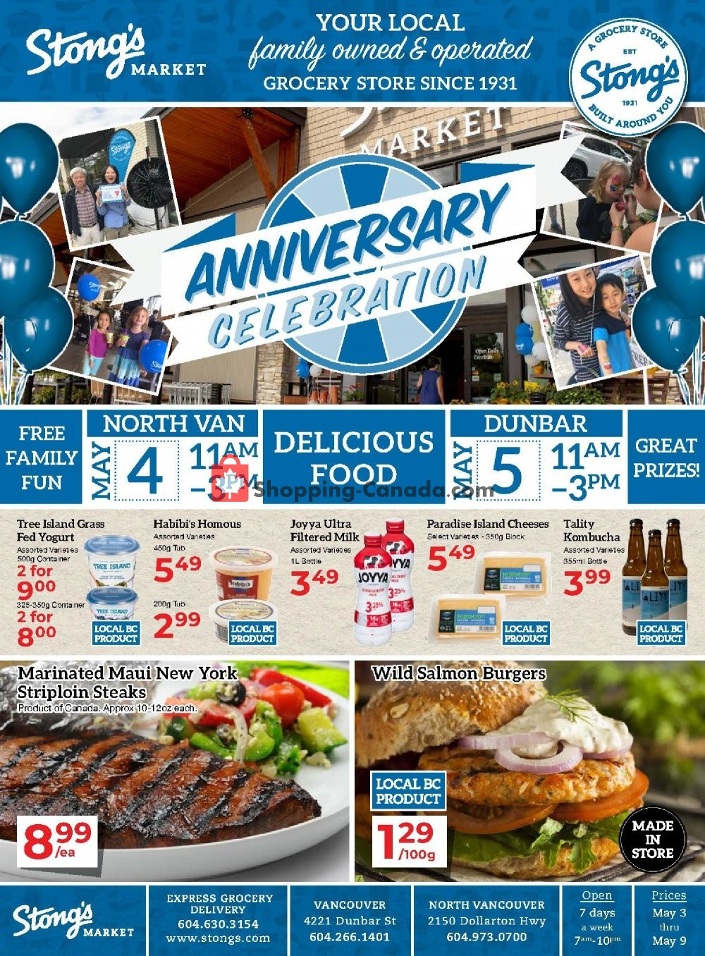 Flyer Stong's Market Canada - from Friday May 3, 2019 to Thursday May 9, 2019