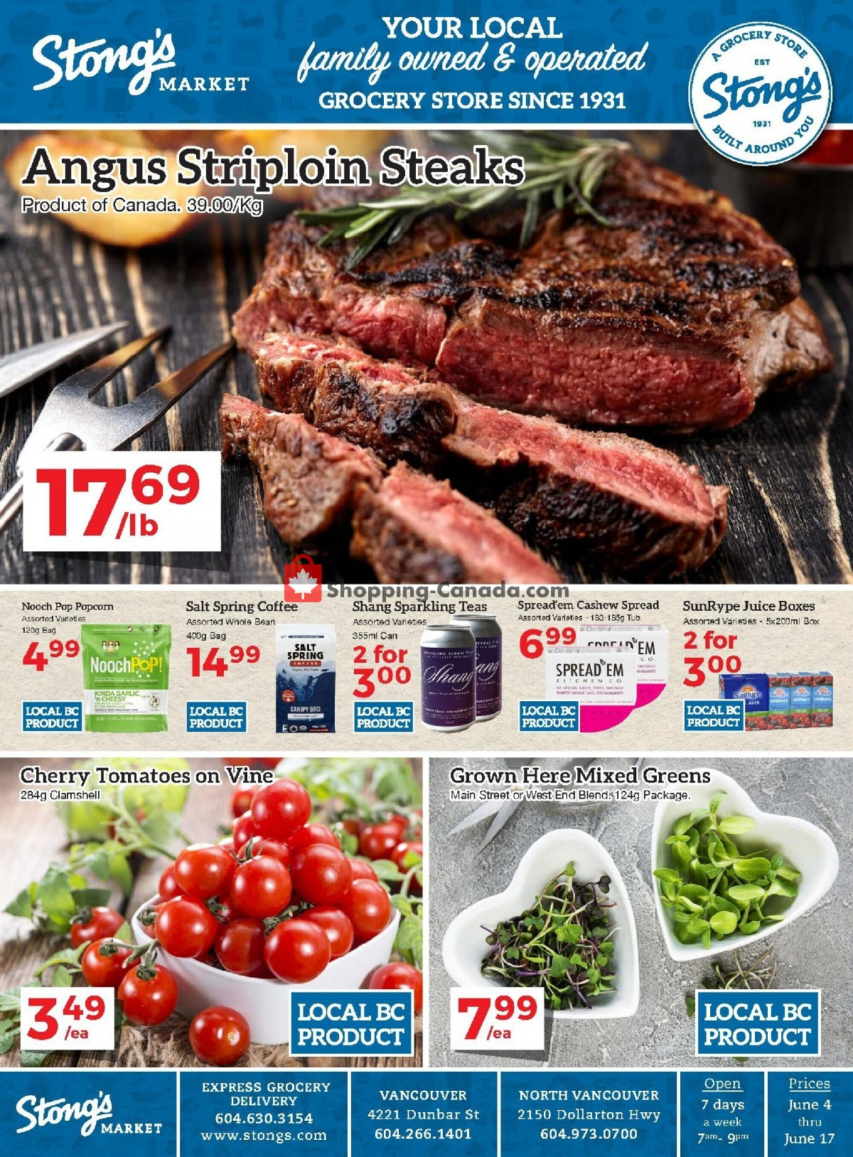 Flyer Stong's Market Canada - from Friday June 4, 2021 to Thursday June 17, 2021