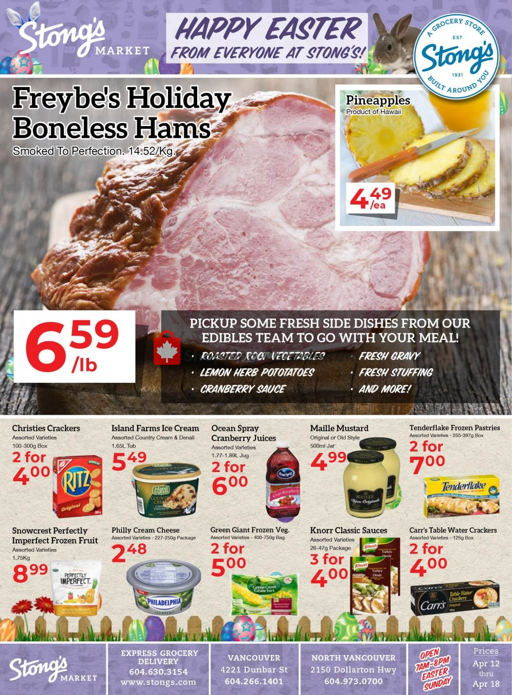 Flyer Stong's Market Canada - from Friday April 12, 2019 to Thursday April 18, 2019