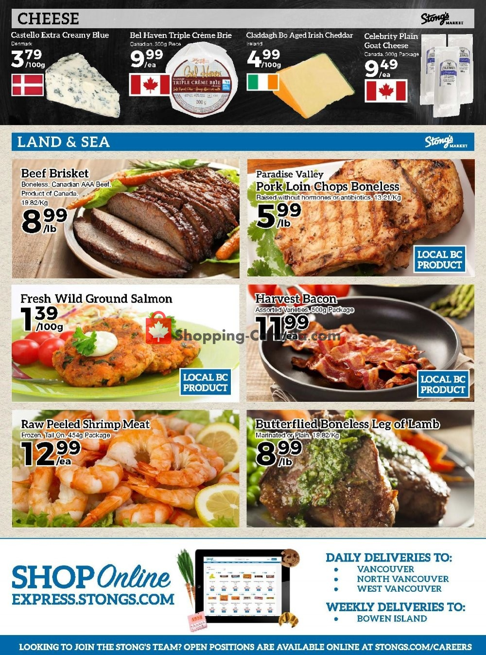 Flyer Stong's Market Canada - from Friday November 8, 2019 to Thursday November 14, 2019
