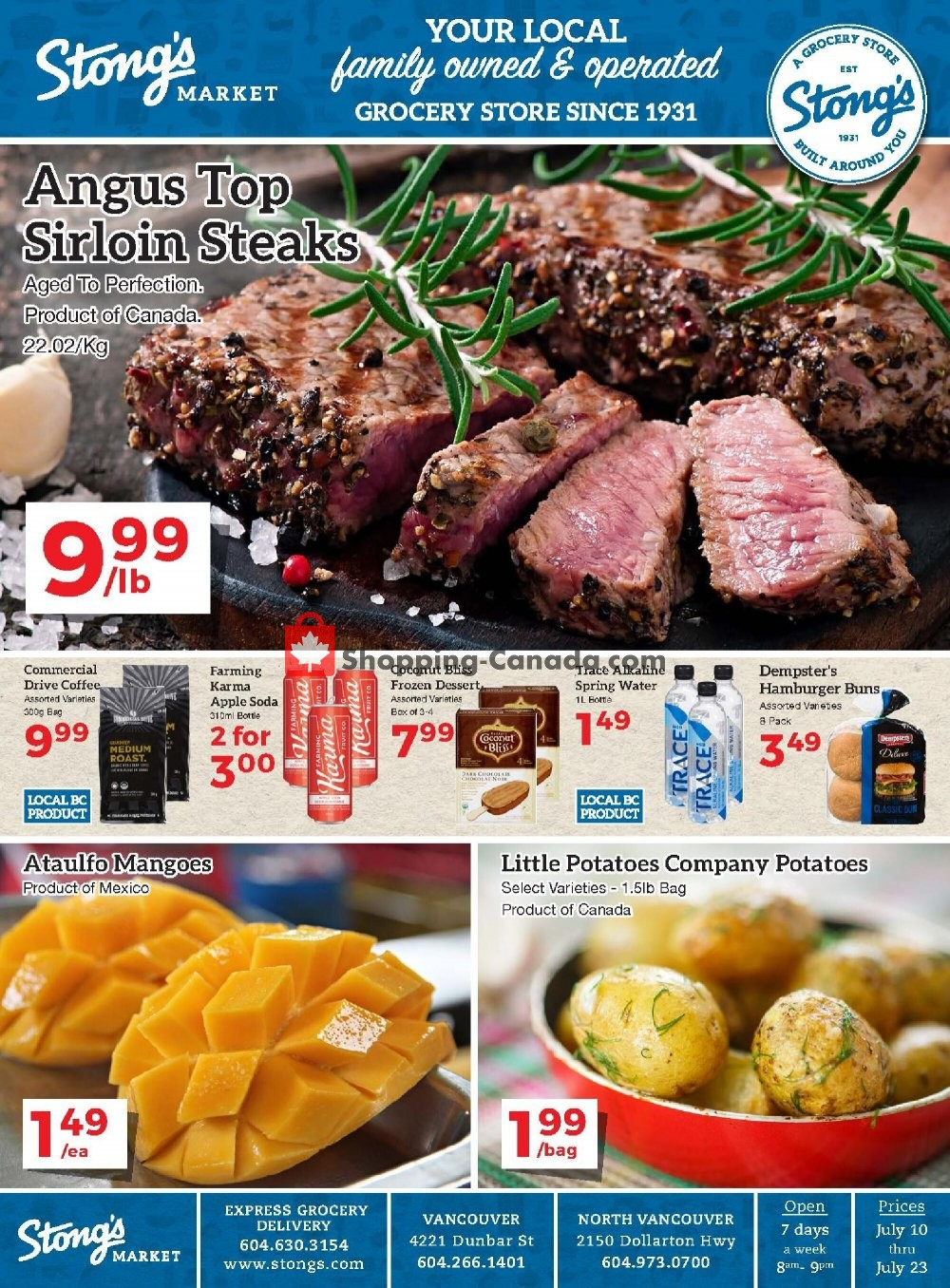 Flyer Stong's Market Canada - from Friday July 10, 2020 to Thursday July 23, 2020
