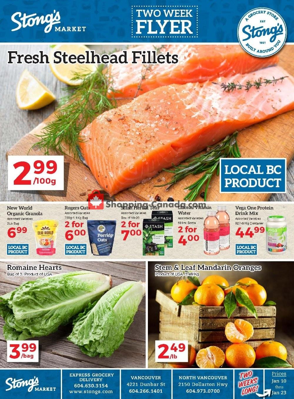 Flyer Stong's Market Canada - from Friday January 10, 2020 to Thursday January 23, 2020