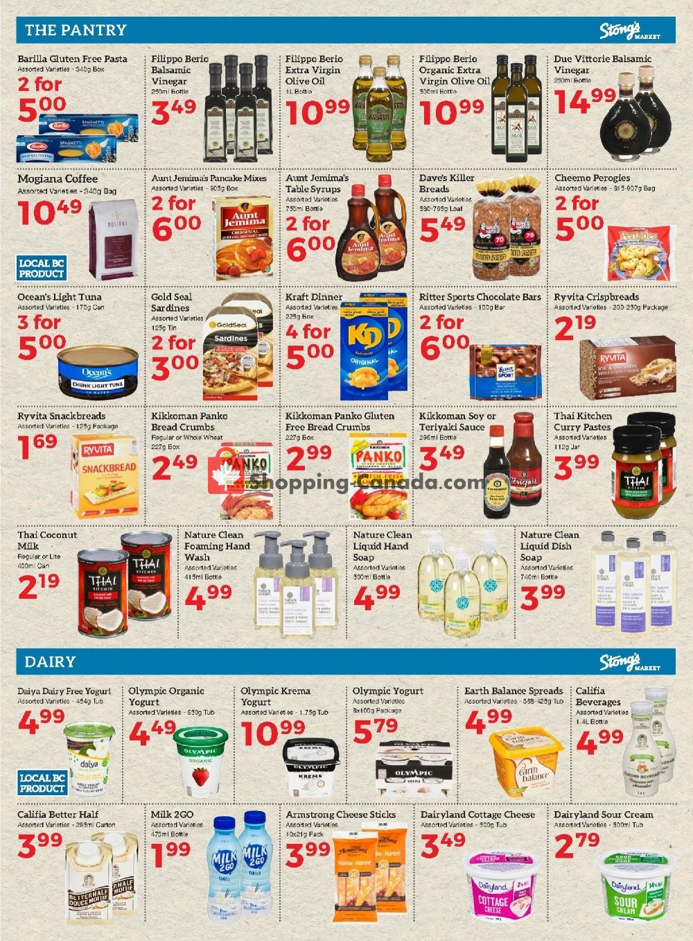 Flyer Stong's Market Canada - from Friday January 10, 2020 to Thursday January 23, 2020