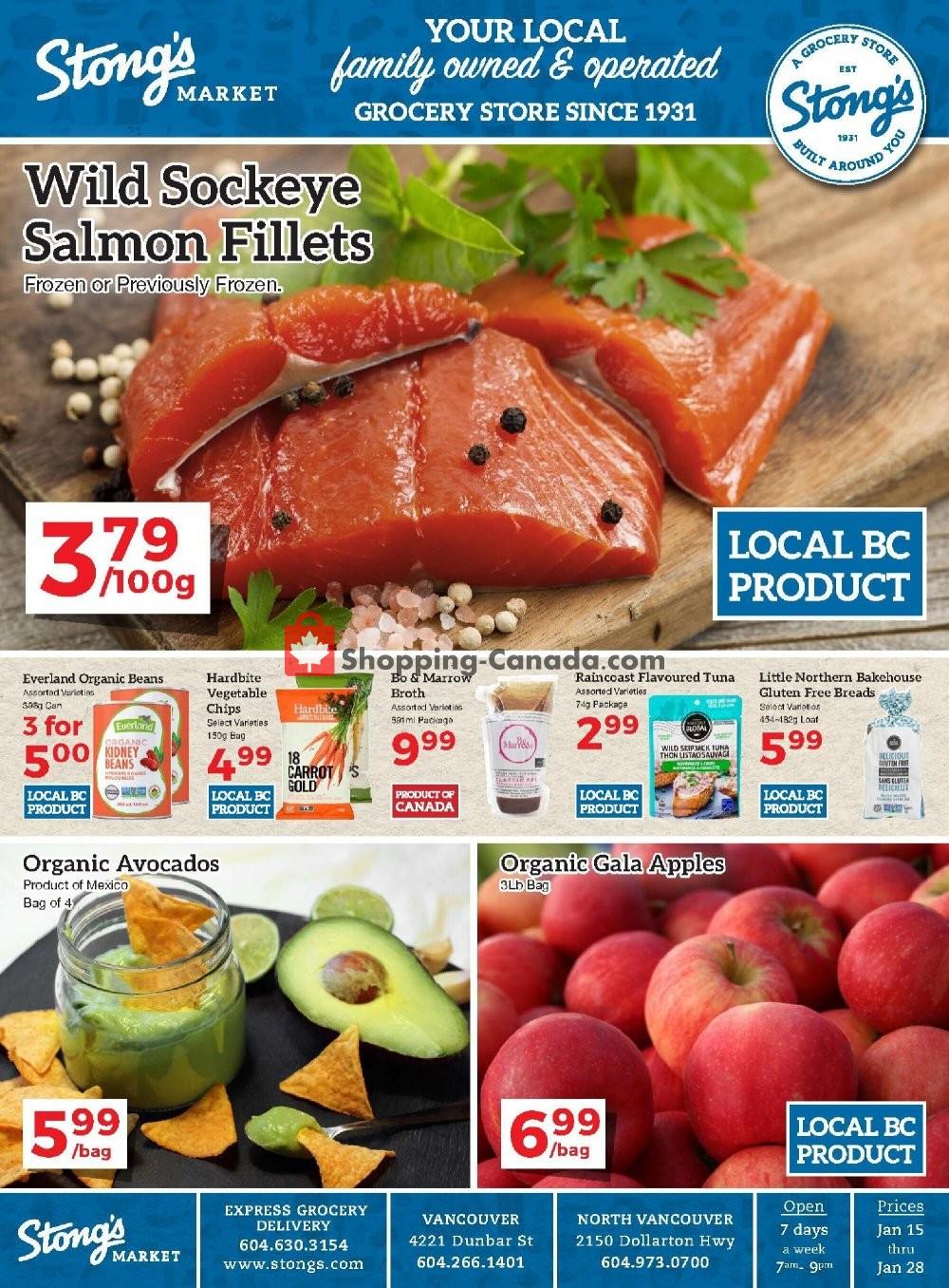 Flyer Stong's Market Canada - from Friday January 15, 2021 to Thursday January 28, 2021