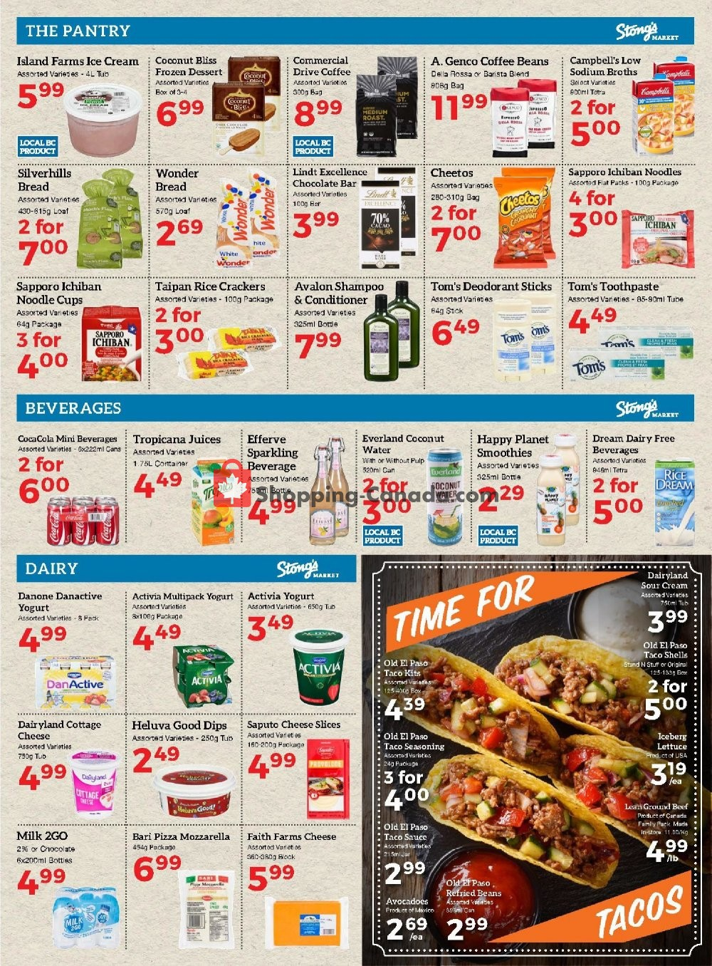 Flyer Stong's Market Canada - from Friday July 19, 2019 to Thursday July 25, 2019