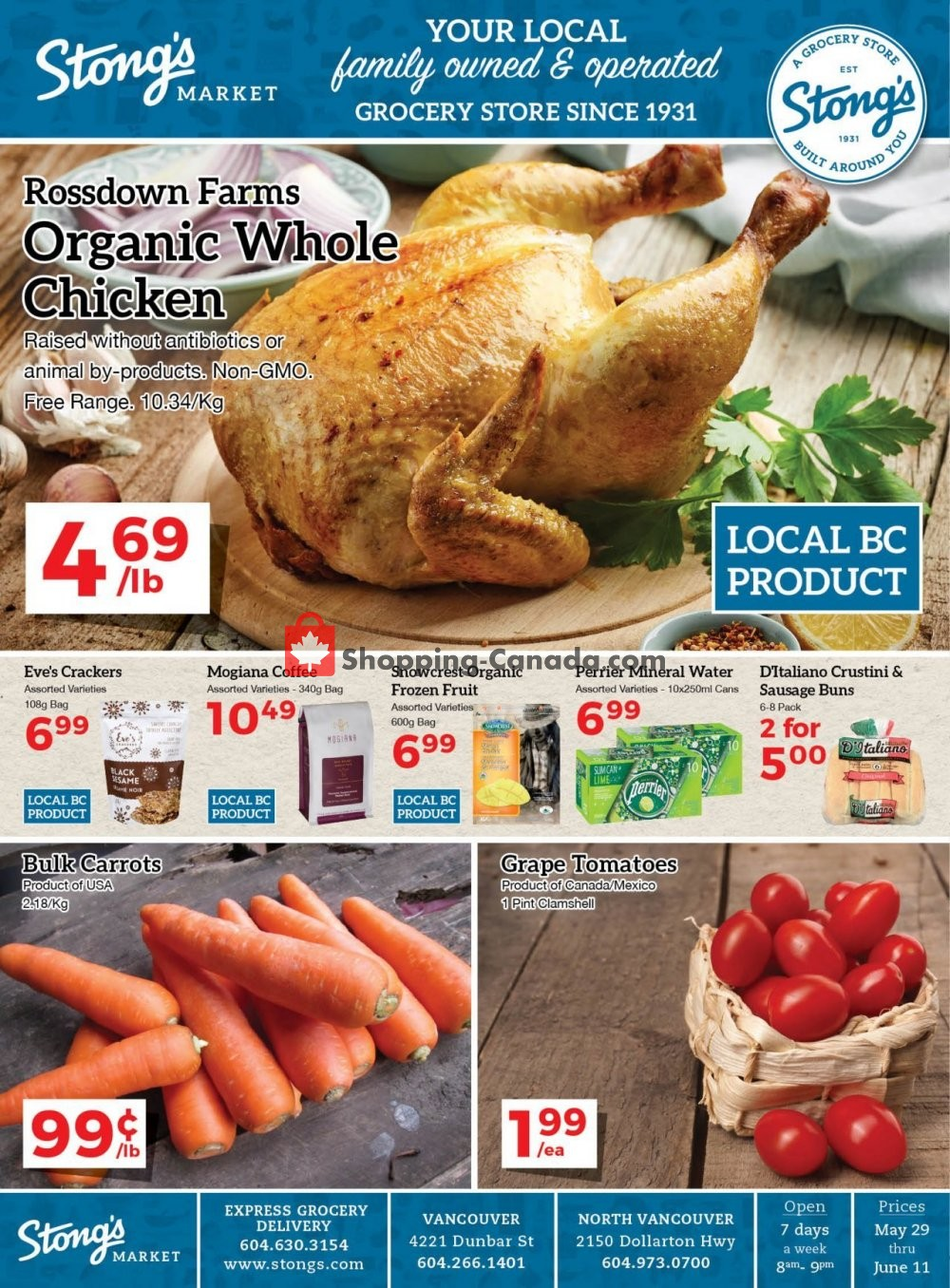 Flyer Stong's Market Canada - from Friday May 29, 2020 to Thursday June 11, 2020