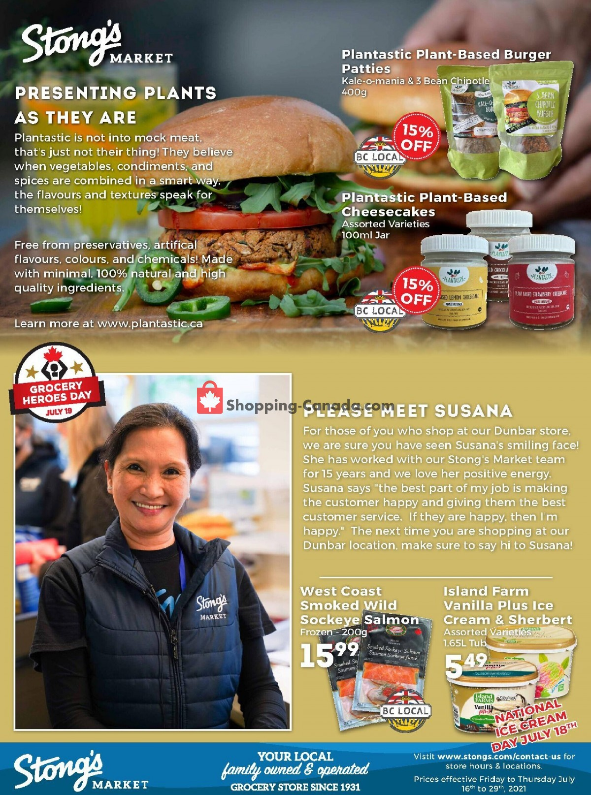 Flyer Stong's Market Canada - from Friday July 16, 2021 to Thursday July 29, 2021