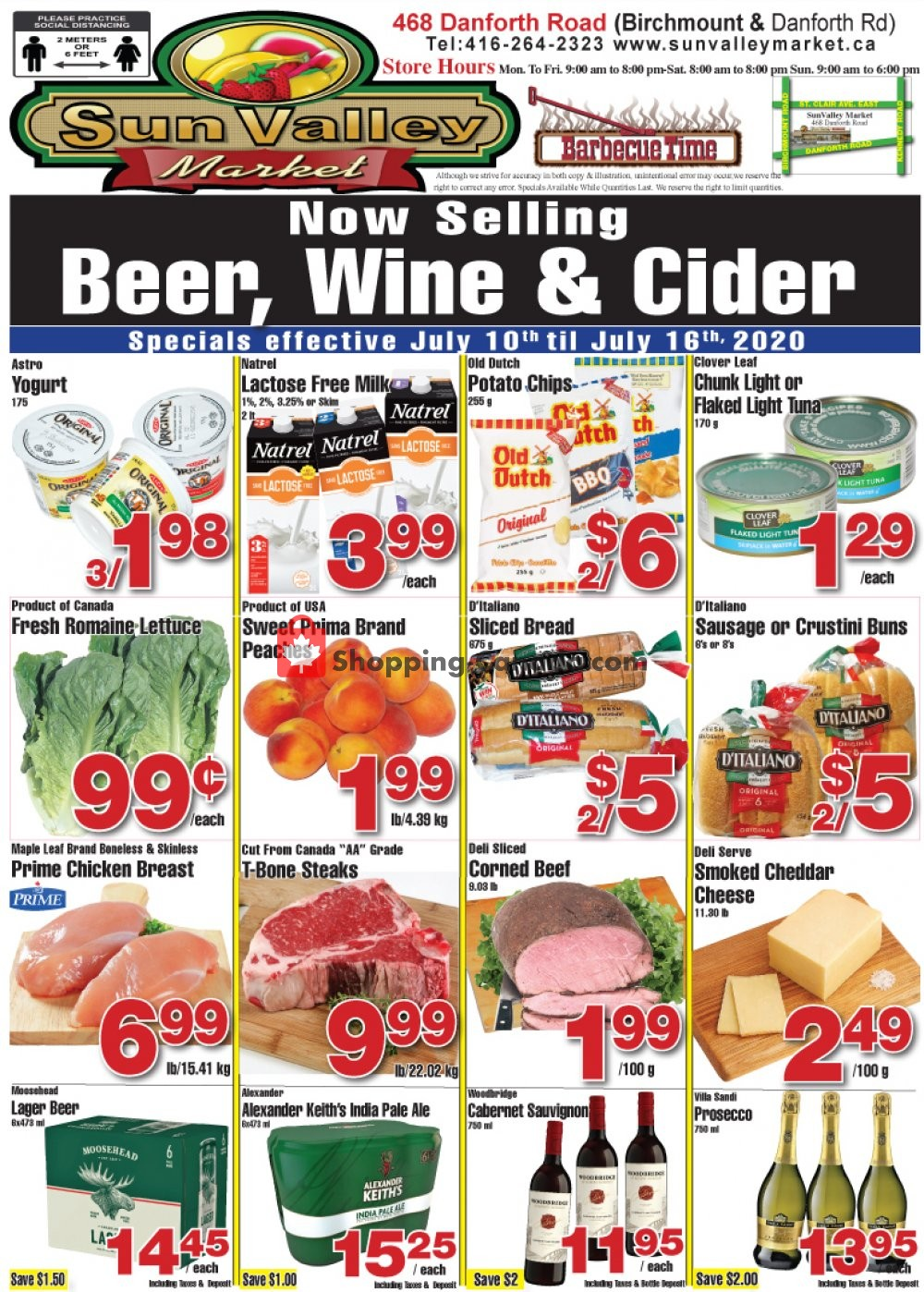 Flyer Sun Valley Market Canada - from Friday July 10, 2020 to Thursday July 16, 2020