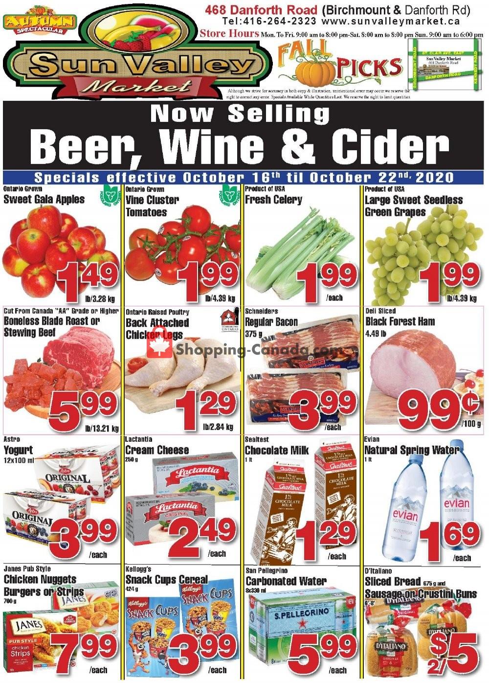 Flyer Sun Valley Market Canada - from Friday October 16, 2020 to Thursday October 22, 2020