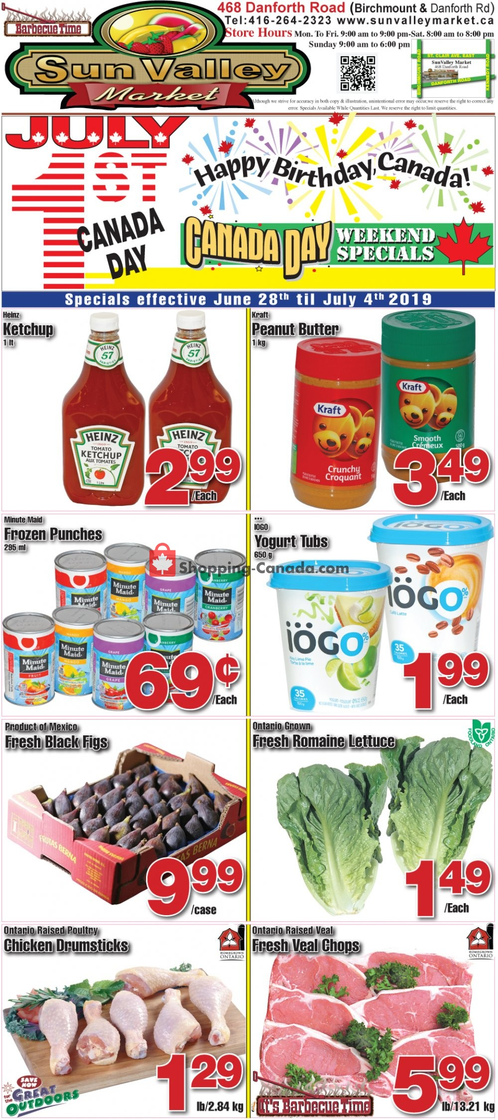 Flyer Sun Valley Market Canada - from Friday June 28, 2019 to Thursday July 4, 2019