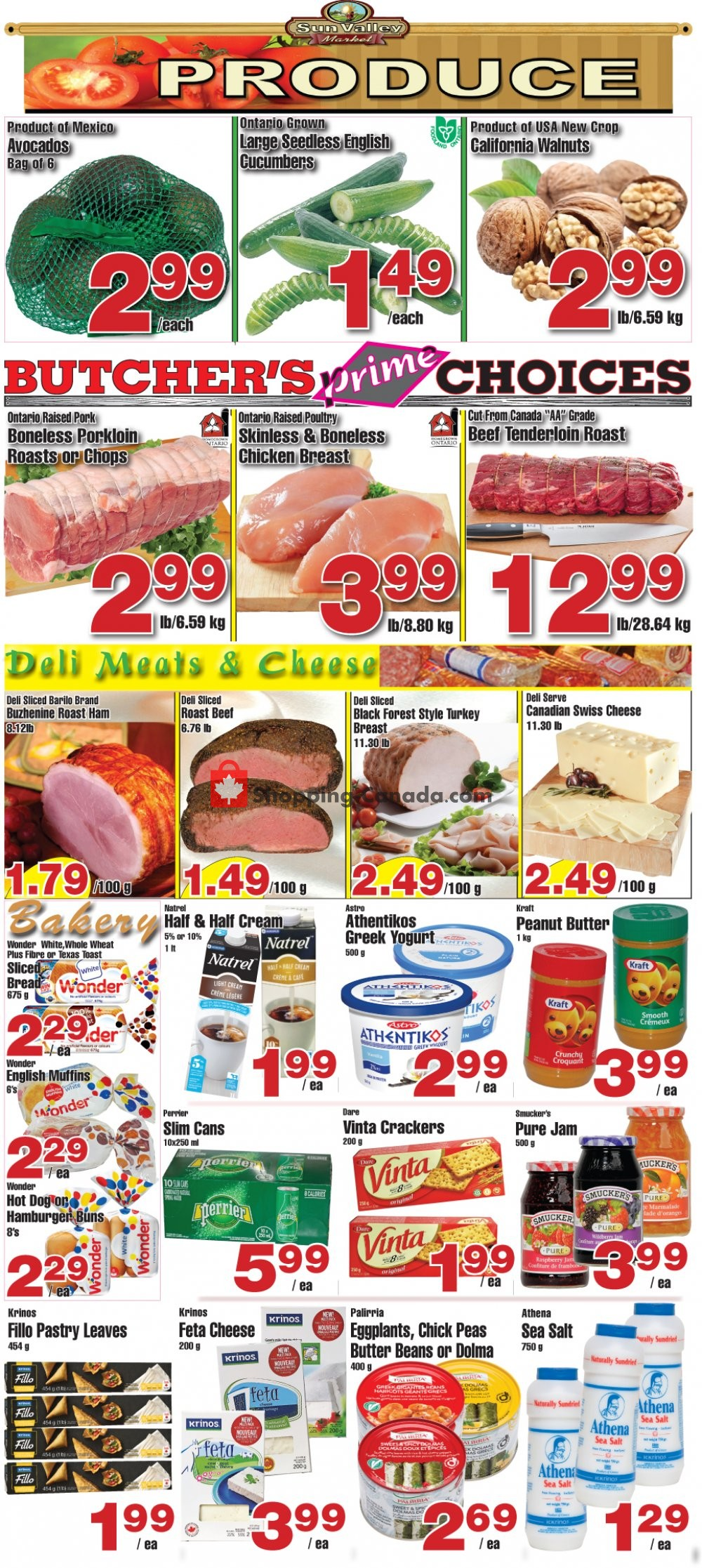 Flyer Sun Valley Market Canada - from Friday November 8, 2019 to Thursday November 14, 2019