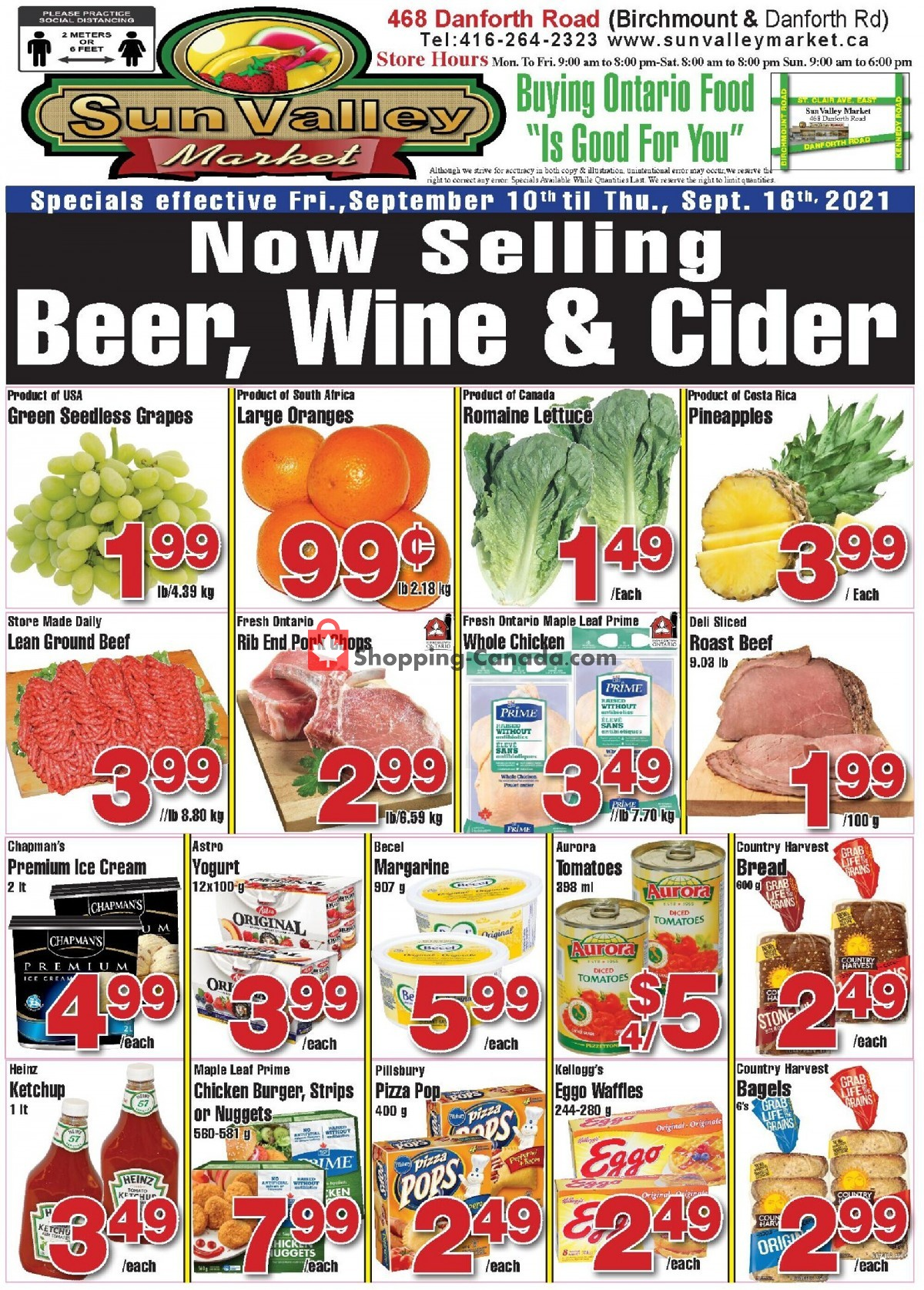 Flyer Sun Valley Market Canada - from Friday September 10, 2021 to Thursday September 16, 2021