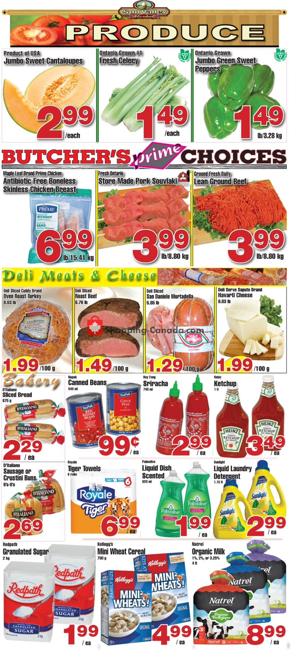 Flyer Sun Valley Market Canada - from Friday August 9, 2019 to Thursday August 15, 2019