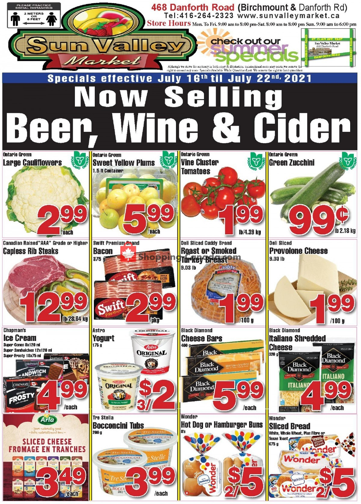 Flyer Sun Valley Market Canada - from Friday July 16, 2021 to Thursday July 22, 2021