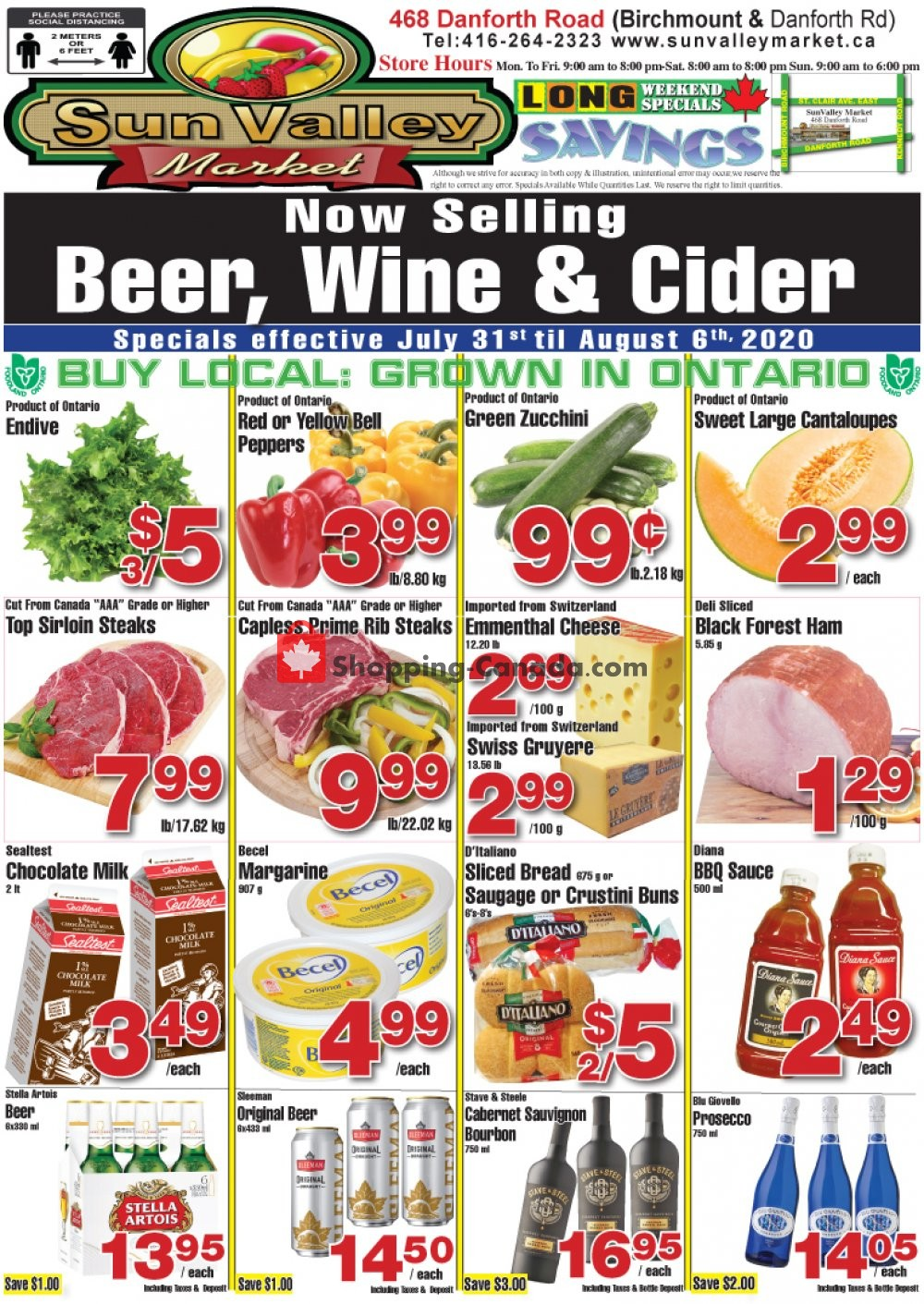 Flyer Sun Valley Market Canada - from Friday July 31, 2020 to Thursday August 6, 2020