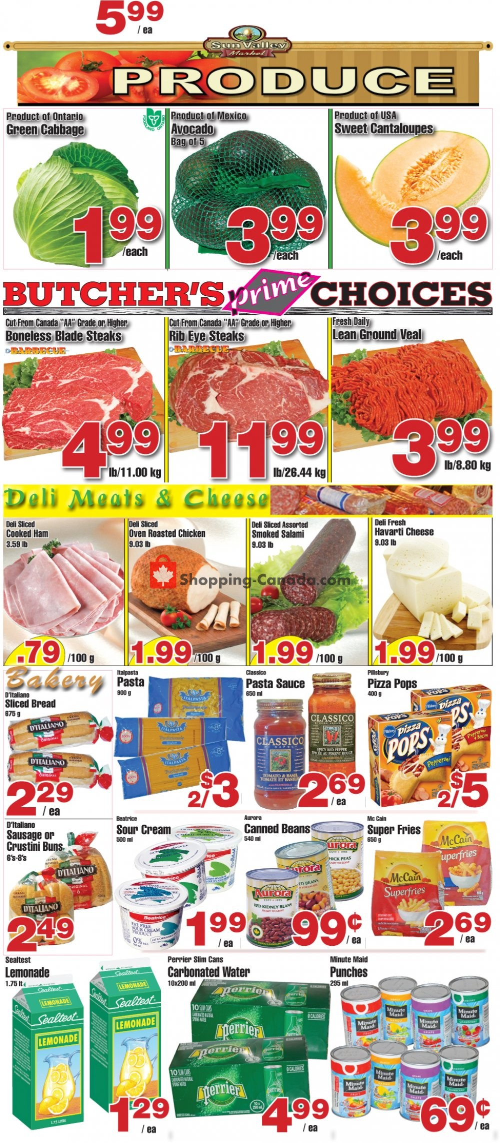 Flyer Sun Valley Market Canada - from Friday July 19, 2019 to Thursday July 25, 2019
