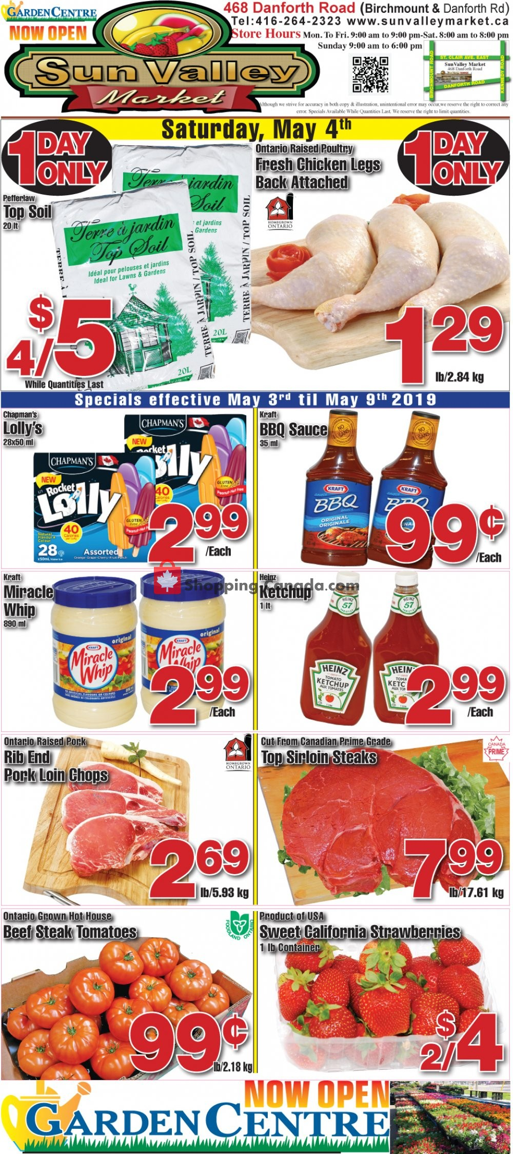 Flyer Sun Valley Market Canada - from Friday May 3, 2019 to Thursday May 9, 2019