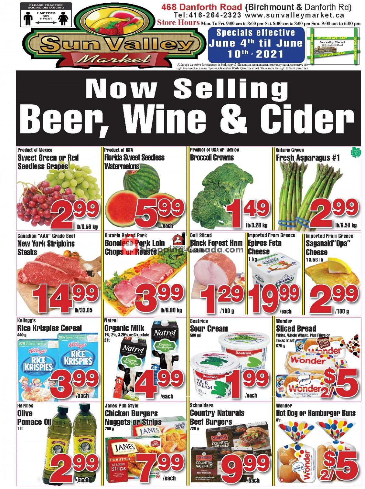 Flyer Sun Valley Market Canada - from Friday June 4, 2021 to Thursday June 10, 2021