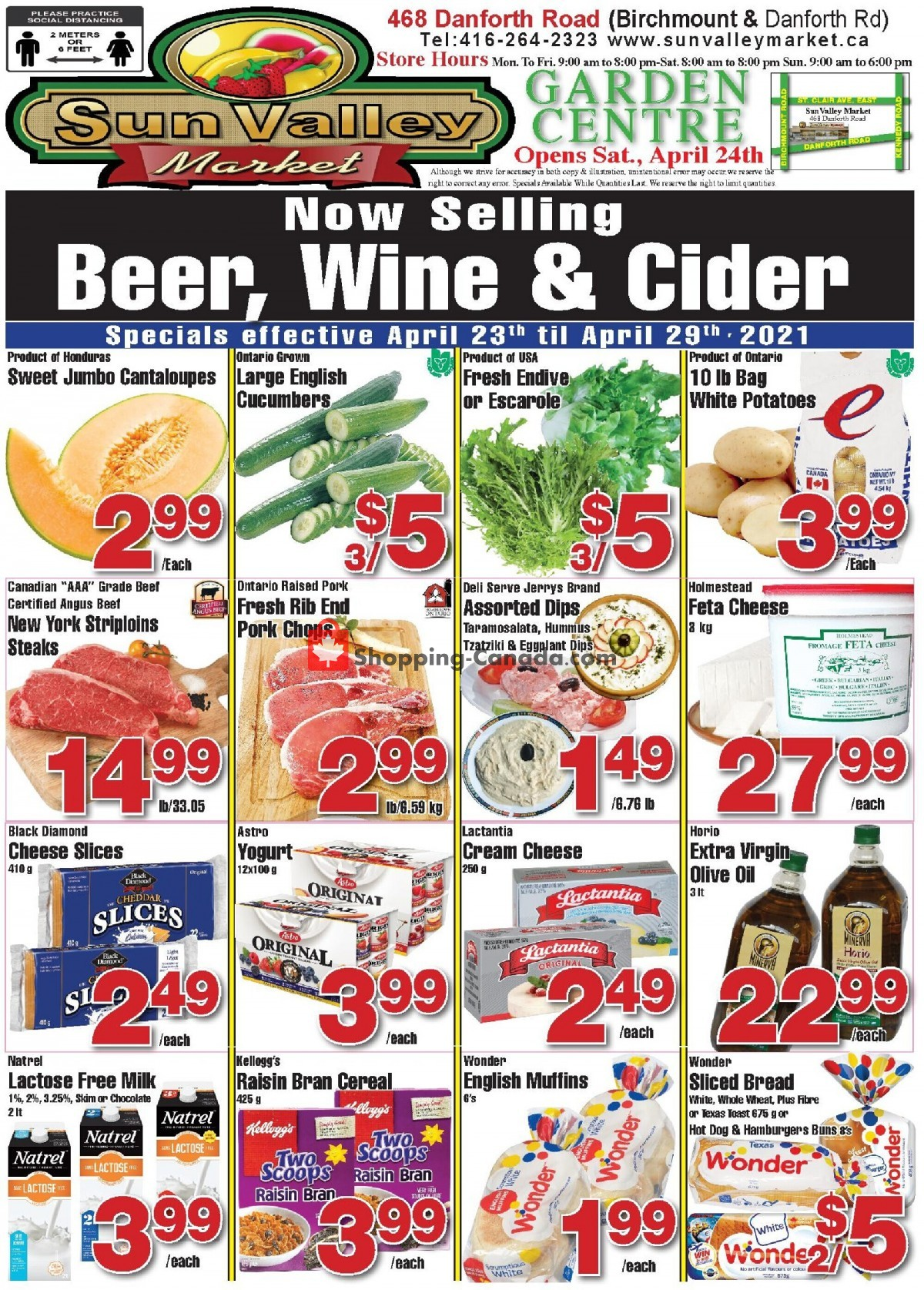 Flyer Sun Valley Market Canada - from Friday April 23, 2021 to Thursday April 29, 2021