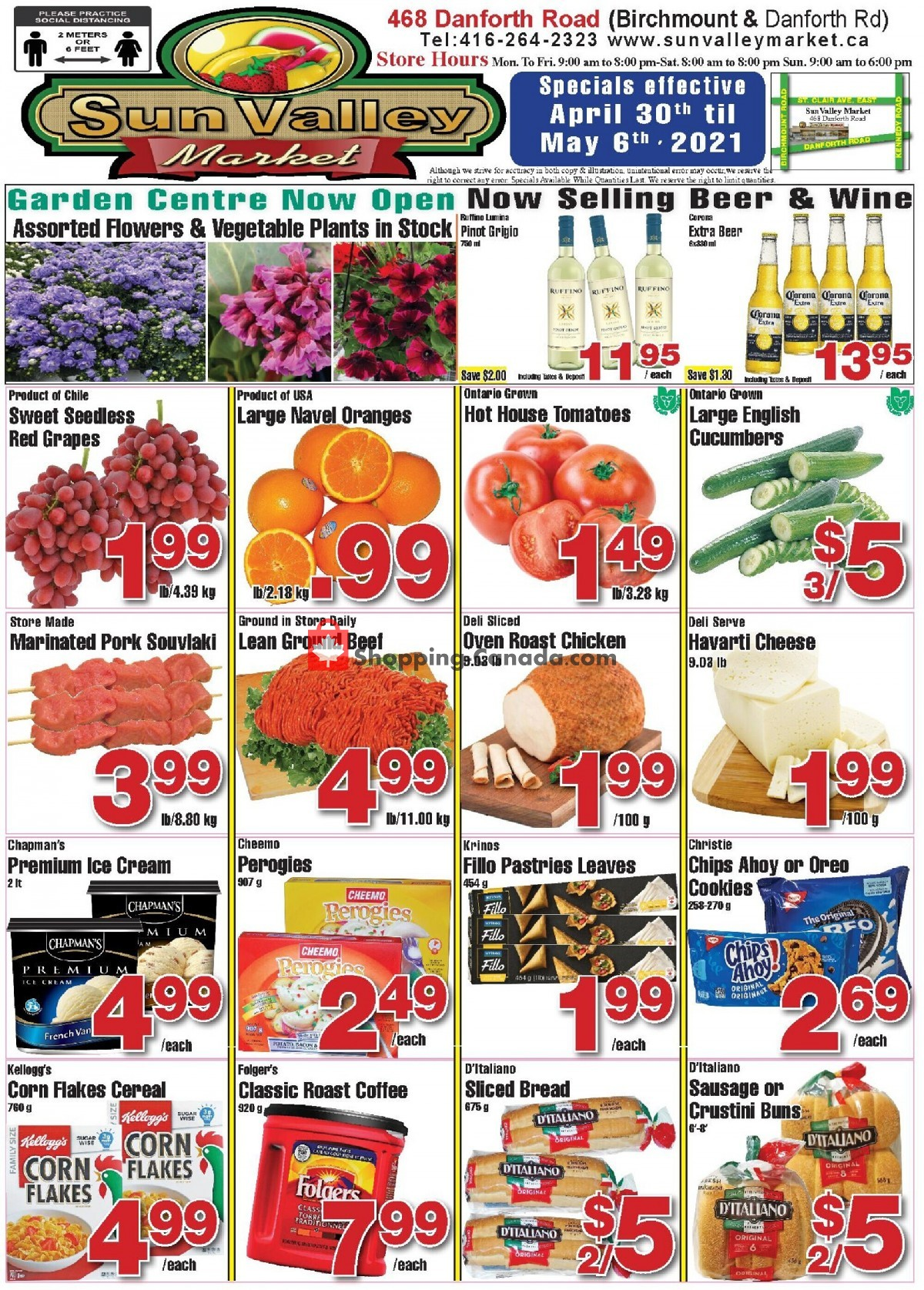 Flyer Sun Valley Market Canada - from Friday April 30, 2021 to Thursday May 6, 2021
