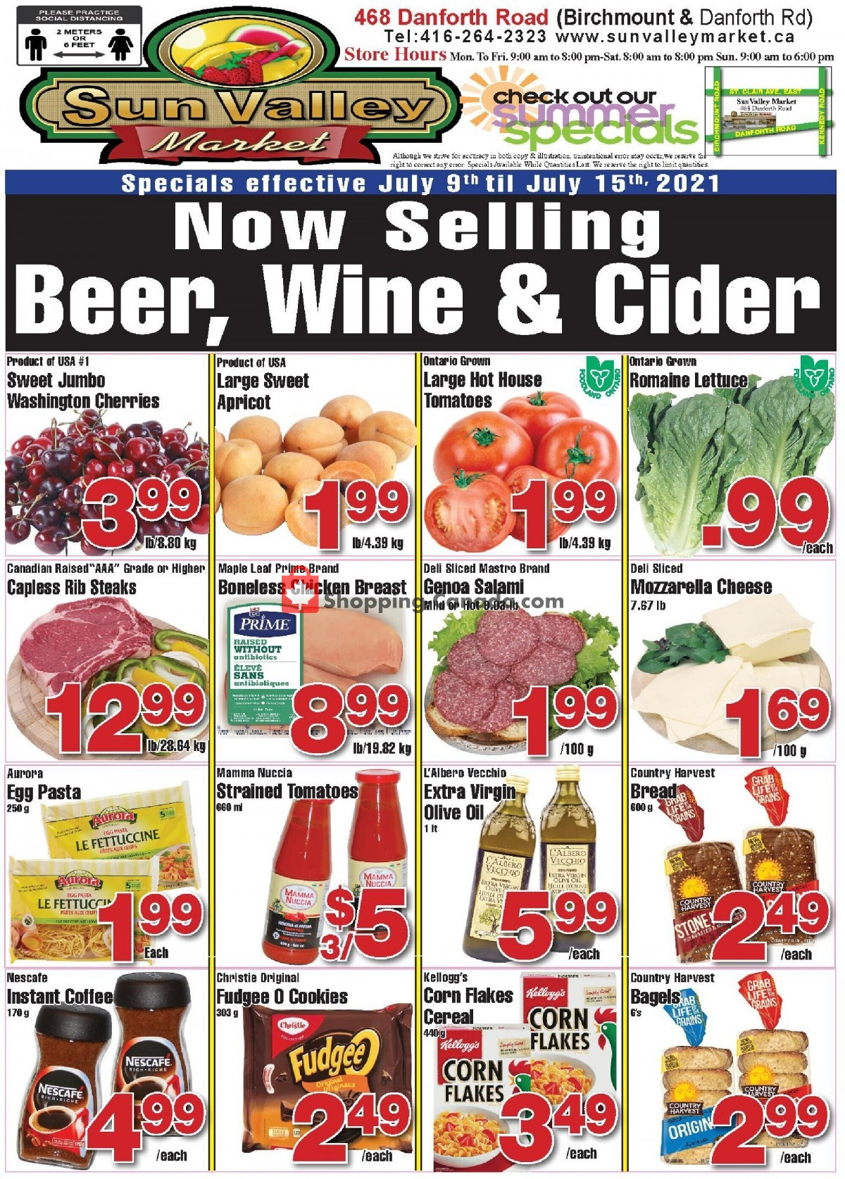 Flyer Sun Valley Market Canada - from Friday July 9, 2021 to Thursday July 15, 2021
