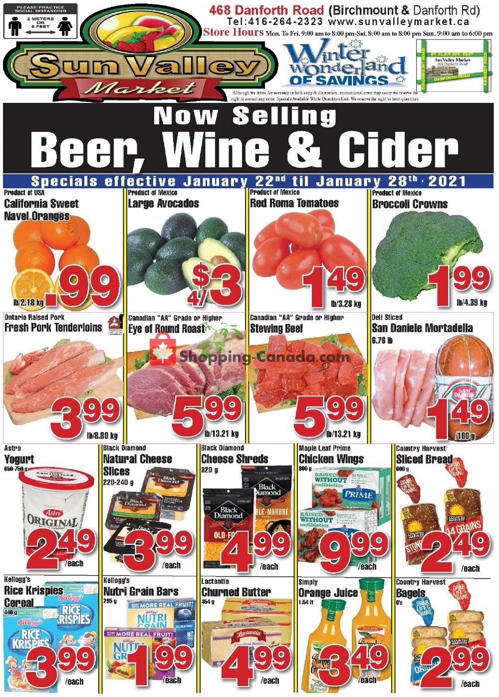 Flyer Sun Valley Market Canada - from Friday January 22, 2021 to Thursday January 28, 2021