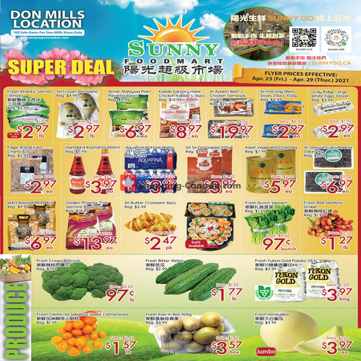 Flyer Sunny Foodmart Canada - from Friday April 23, 2021 to Thursday April 29, 2021