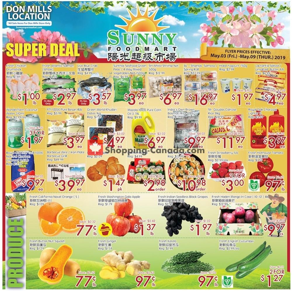 Flyer Sunny Foodmart Canada - from Friday May 3, 2019 to Thursday May 9, 2019