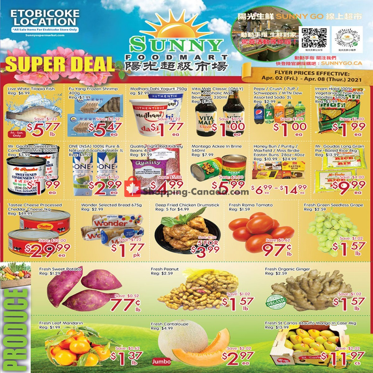 Flyer Sunny Foodmart Canada - from Friday April 2, 2021 to Thursday April 8, 2021