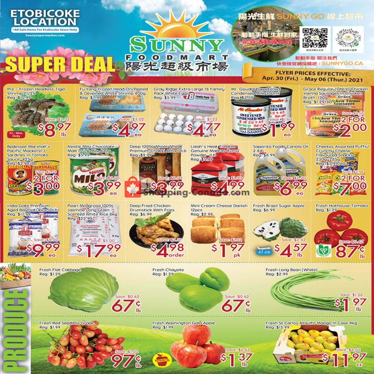 Flyer Sunny Foodmart Canada - from Friday April 30, 2021 to Thursday May 6, 2021