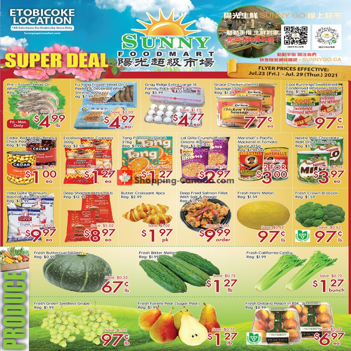 Flyer Sunny Foodmart Canada - from Friday July 23, 2021 to Thursday July 29, 2021
