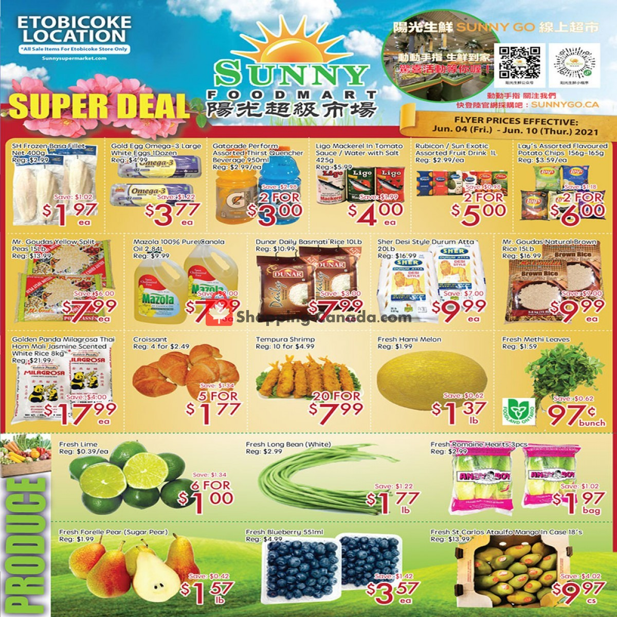 Flyer Sunny Foodmart Canada - from Friday June 4, 2021 to Thursday June 10, 2021