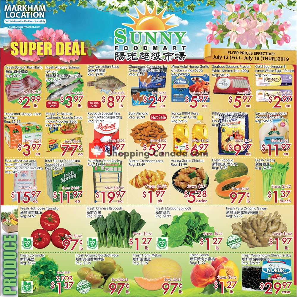 Flyer And Weekly Ads: Sunny Foodmart Canada