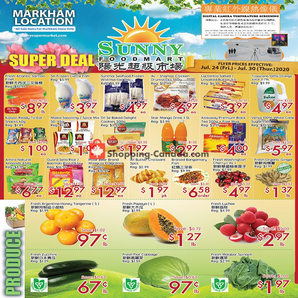 Flyer Sunny Foodmart Canada - from Friday July 24, 2020 to Thursday July 30, 2020