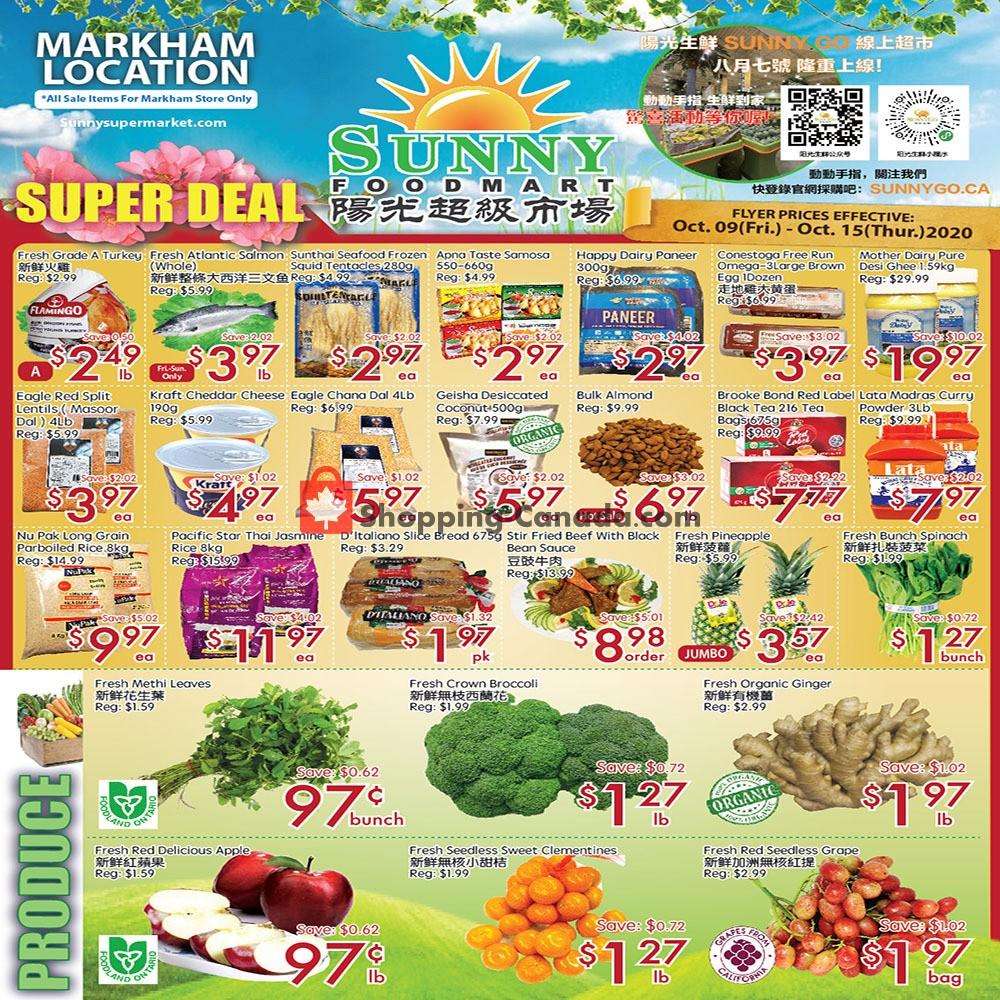 Flyer Sunny Foodmart Canada - from Friday October 9, 2020 to Thursday October 15, 2020