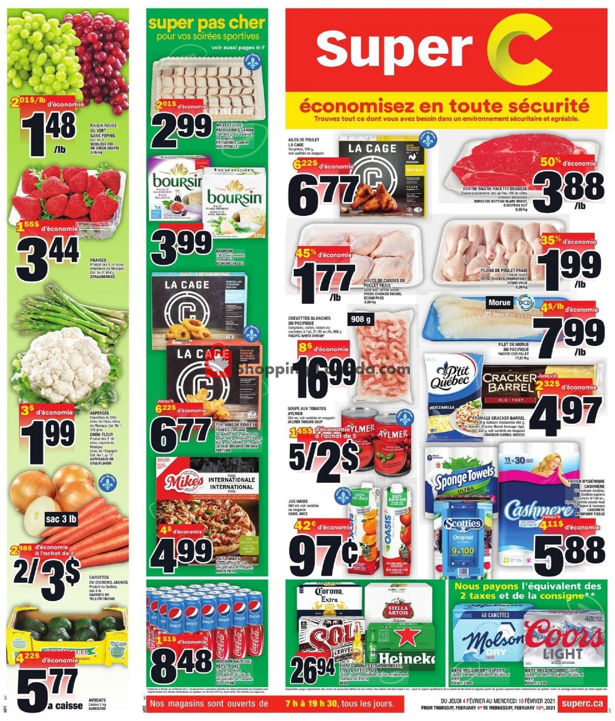 Flyer Super C Canada - from Thursday February 4, 2021 to Wednesday February 10, 2021