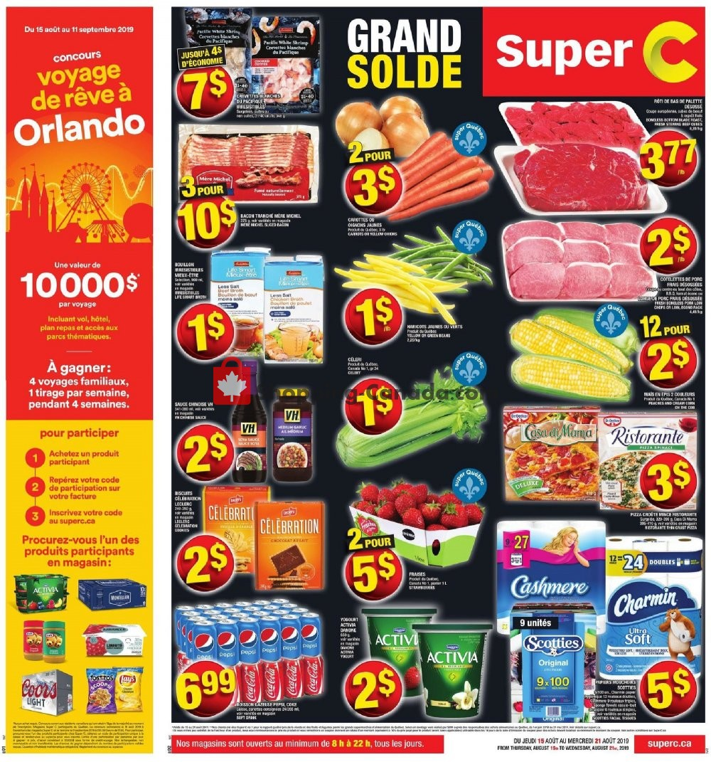 Flyer Super C Canada - from Thursday August 15, 2019 to Wednesday August 21, 2019
