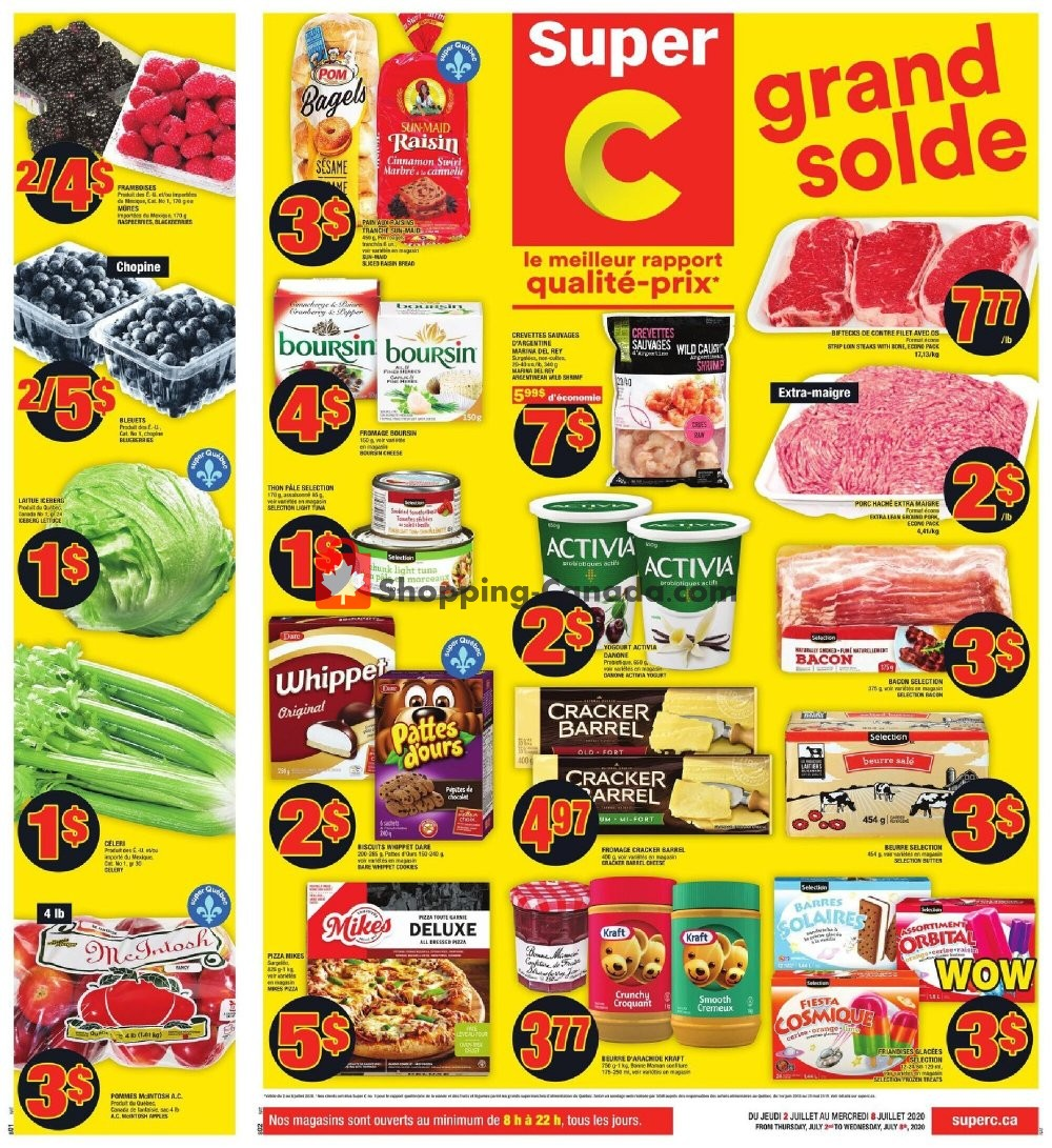 Flyer Super C Canada - from Thursday July 2, 2020 to Wednesday July 8, 2020