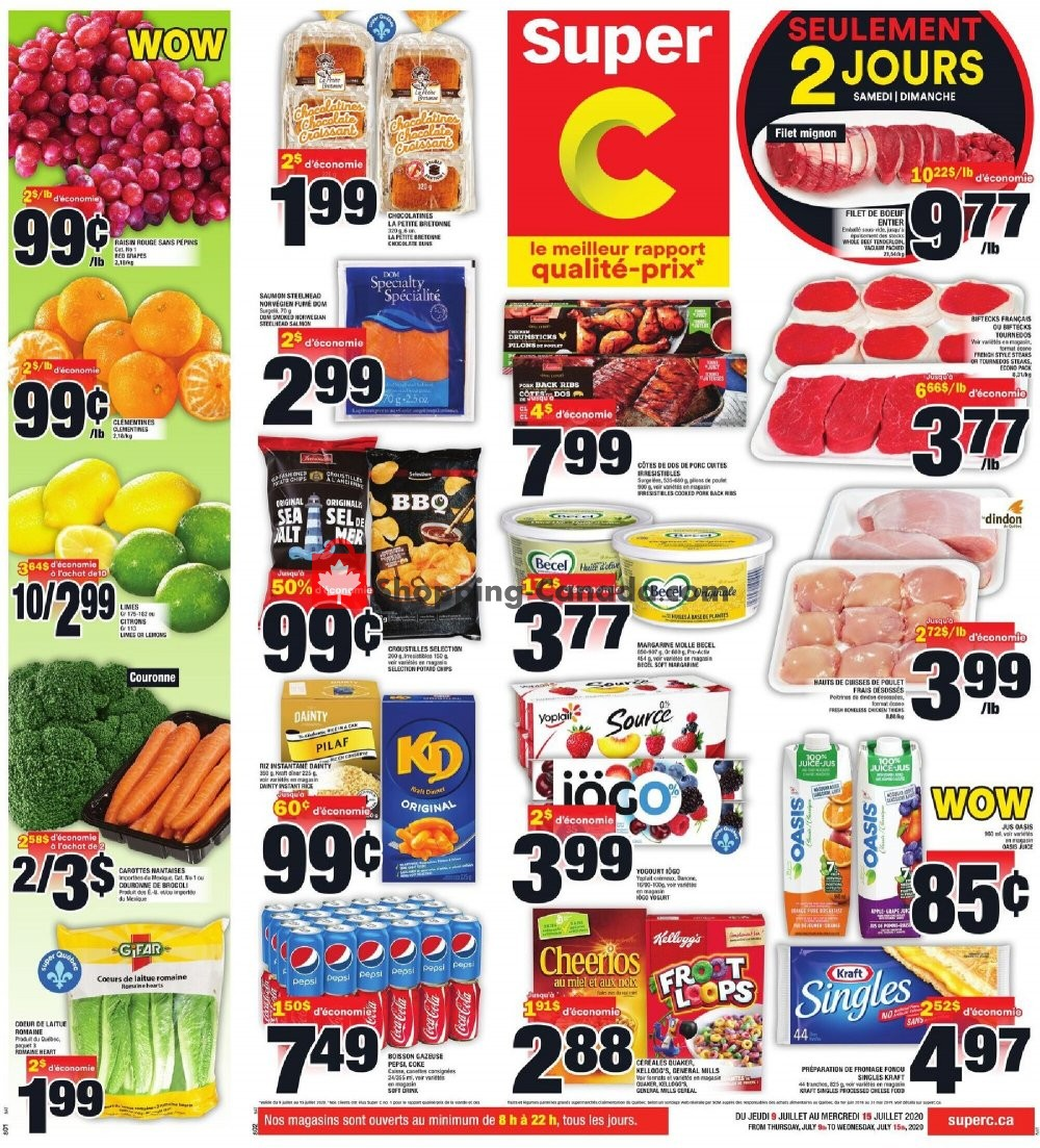 Flyer Super C Canada - from Thursday July 9, 2020 to Wednesday July 15, 2020